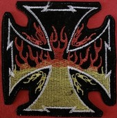 Flaming Cross patch